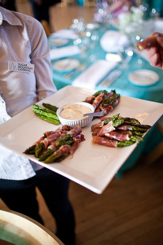 Sugar Mountain Catering prosciutto wrapped asparagus
