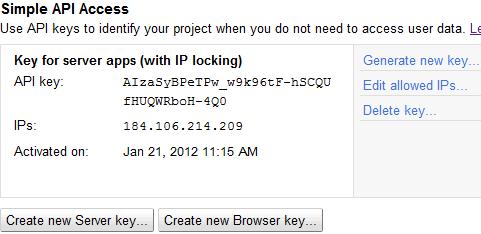 New server key