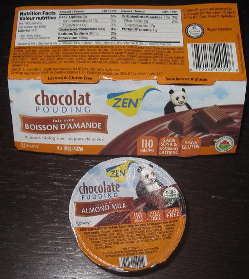 Zen Chocolate Almond pudding