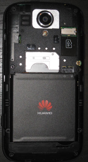Huawei Ascend G312 back