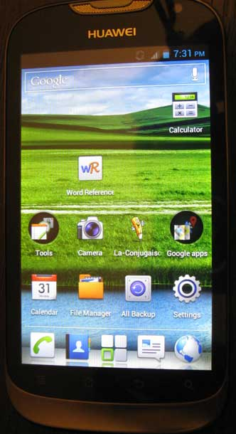Huawei Ascend G312 front