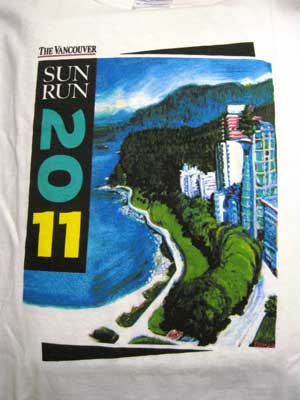 2011 Vancouver Sun Run t-shirt design