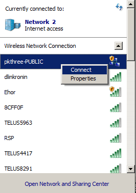 Enable wireless network