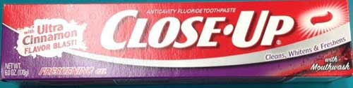 Close-up cinnamon toothpaste