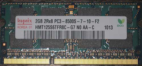 2Rx8 DDR3 SODIMM RAM