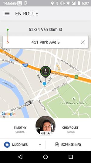 Uber: ride arriving